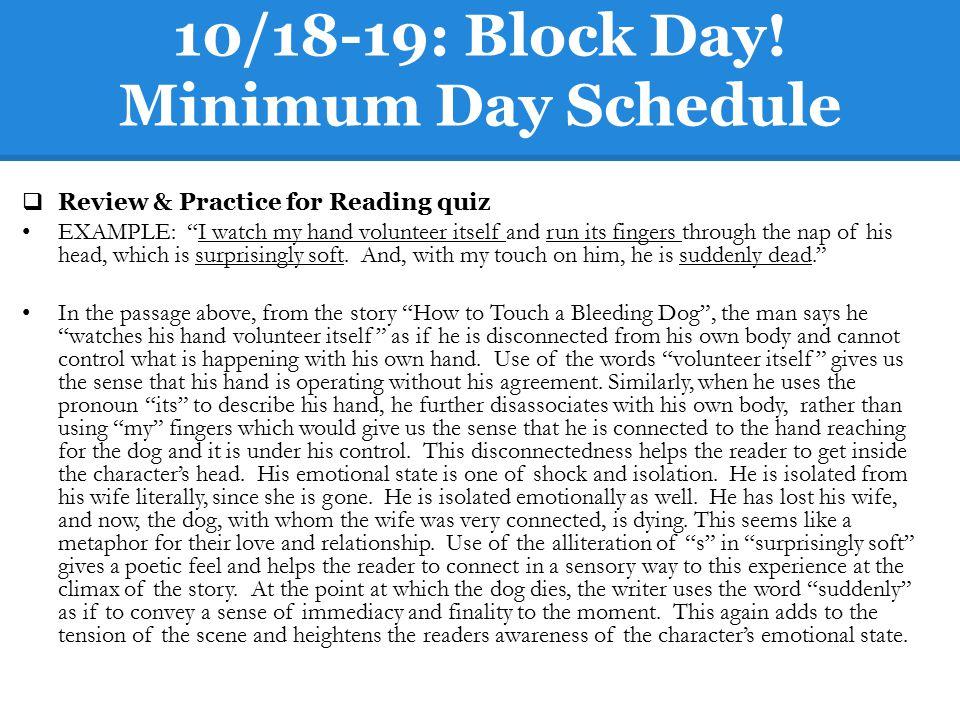 10/18-19: Block Day.