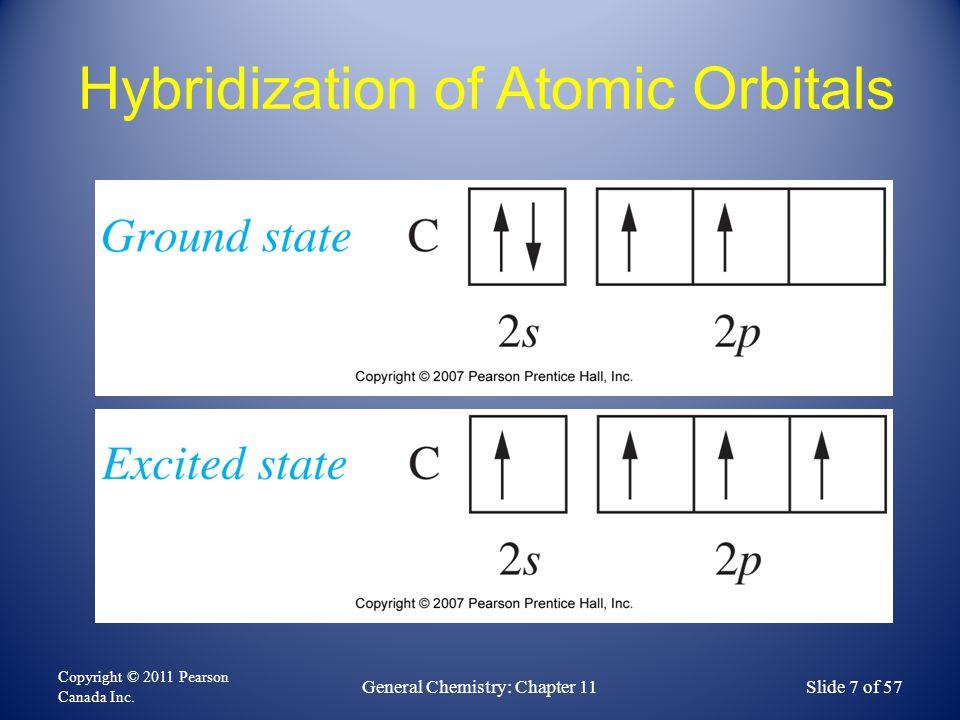 The sp 3 hybridization scheme FIGURE 11-6 Copyright © 2011 Pearson Canada Inc.