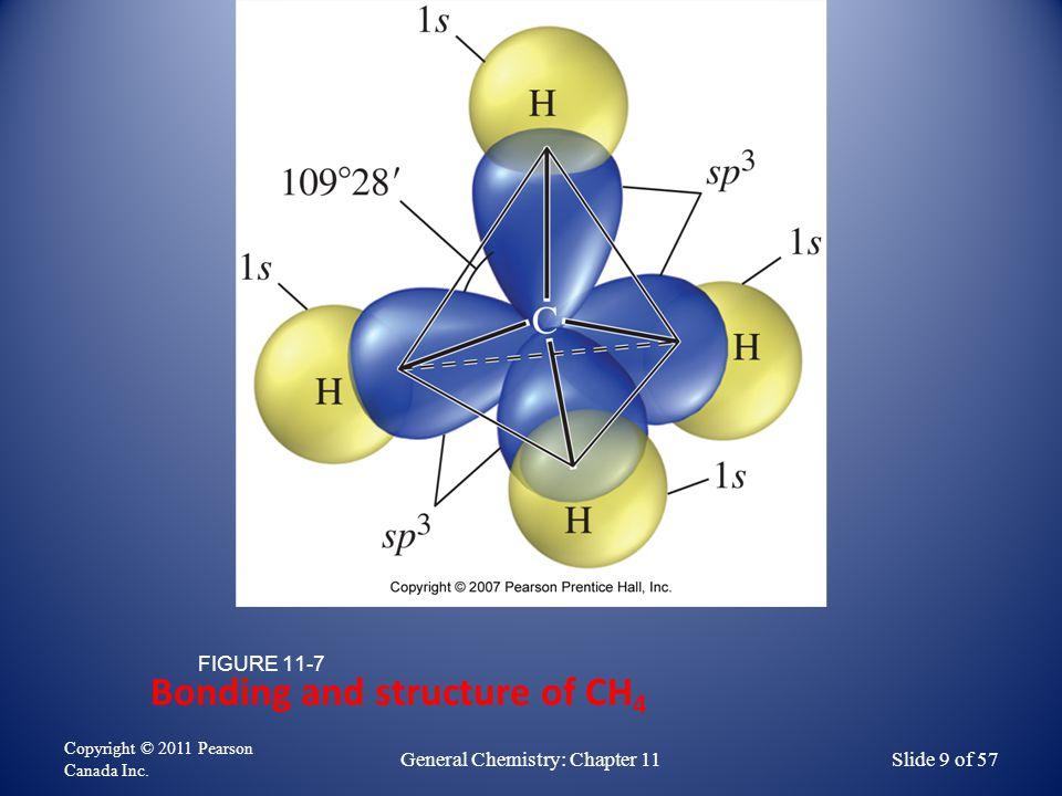 Bonding in H 2 S represented by atomic orbital overlap FIGURE 11-3 Copyright © 2011 Pearson Canada Inc.