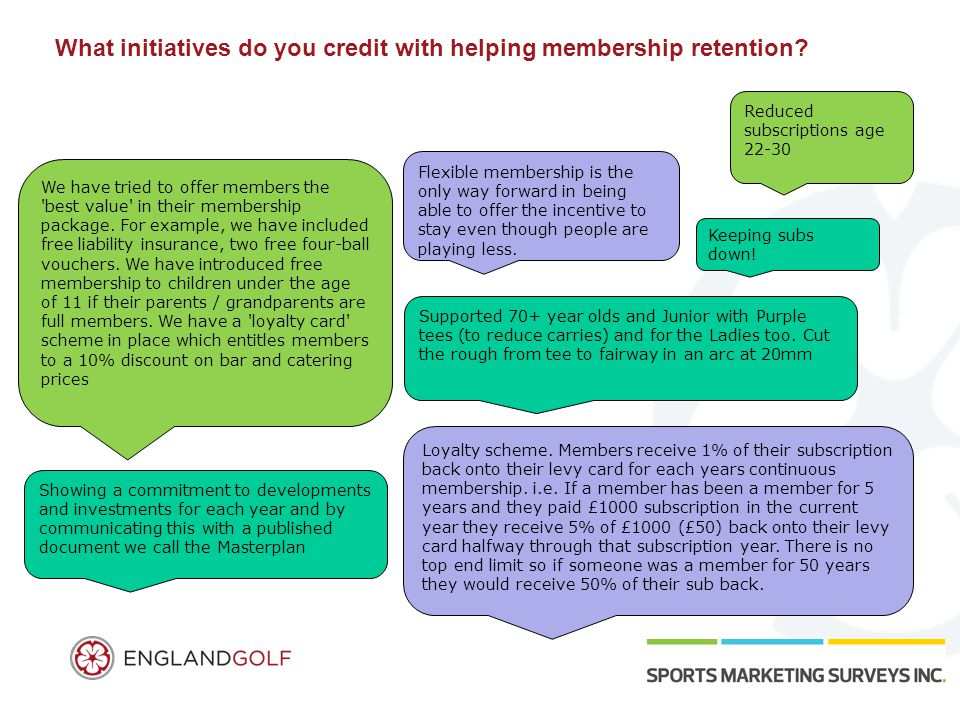 What initiatives do you credit with helping membership retention.