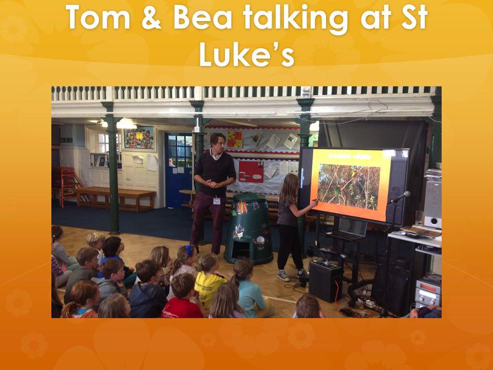 Tom & Bea talking at St Luke's