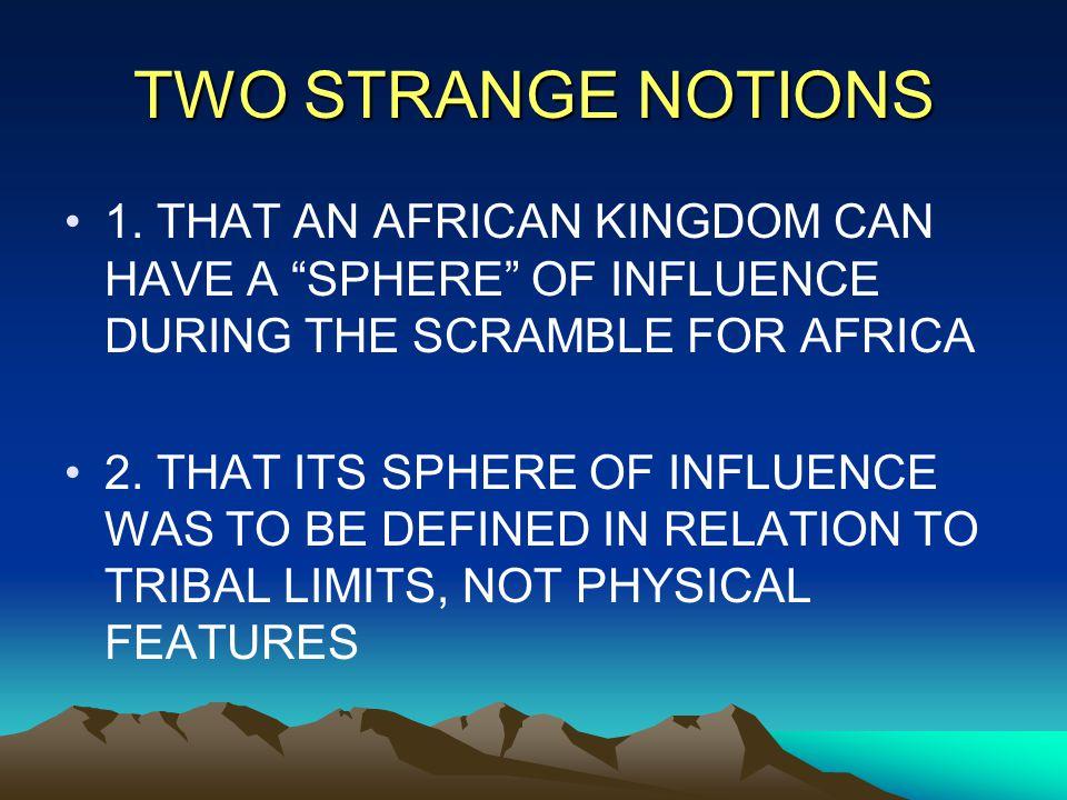 TWO STRANGE NOTIONS 1.