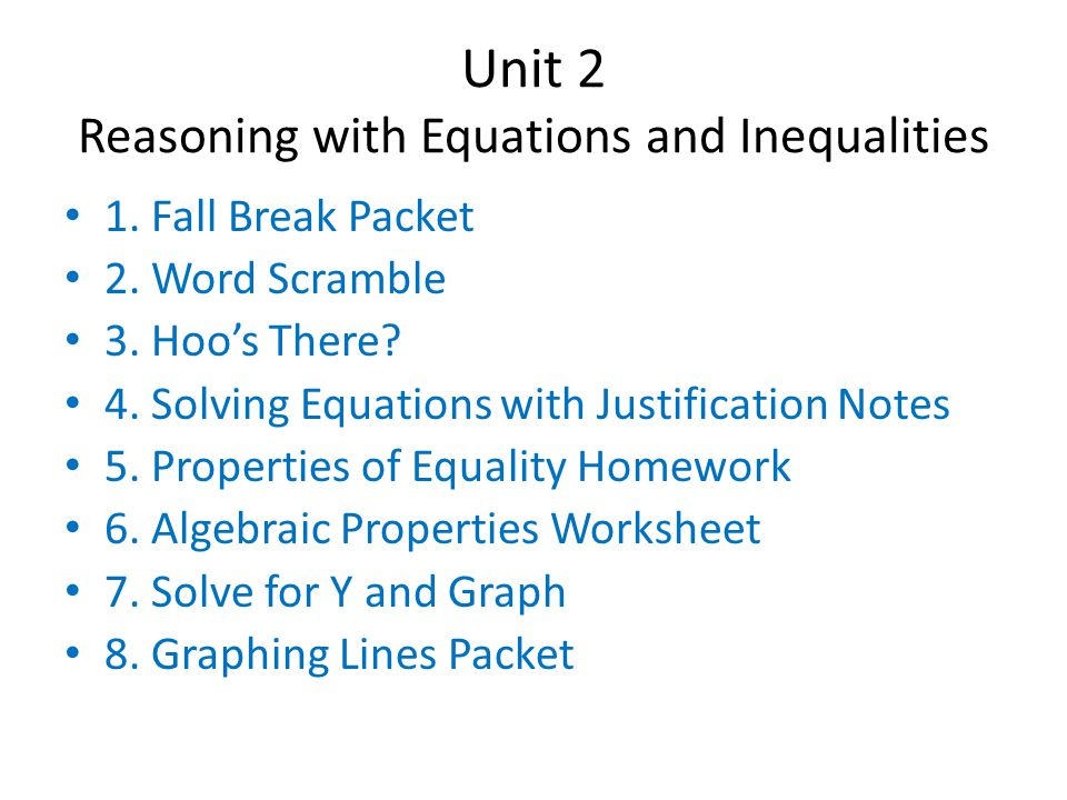 9.Introduction to Systems of Linear Equations Notes 10.