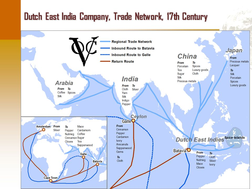 © Dr. Jean-Paul Rodrigue Dutch East India Company, Trade Network, 17th Century