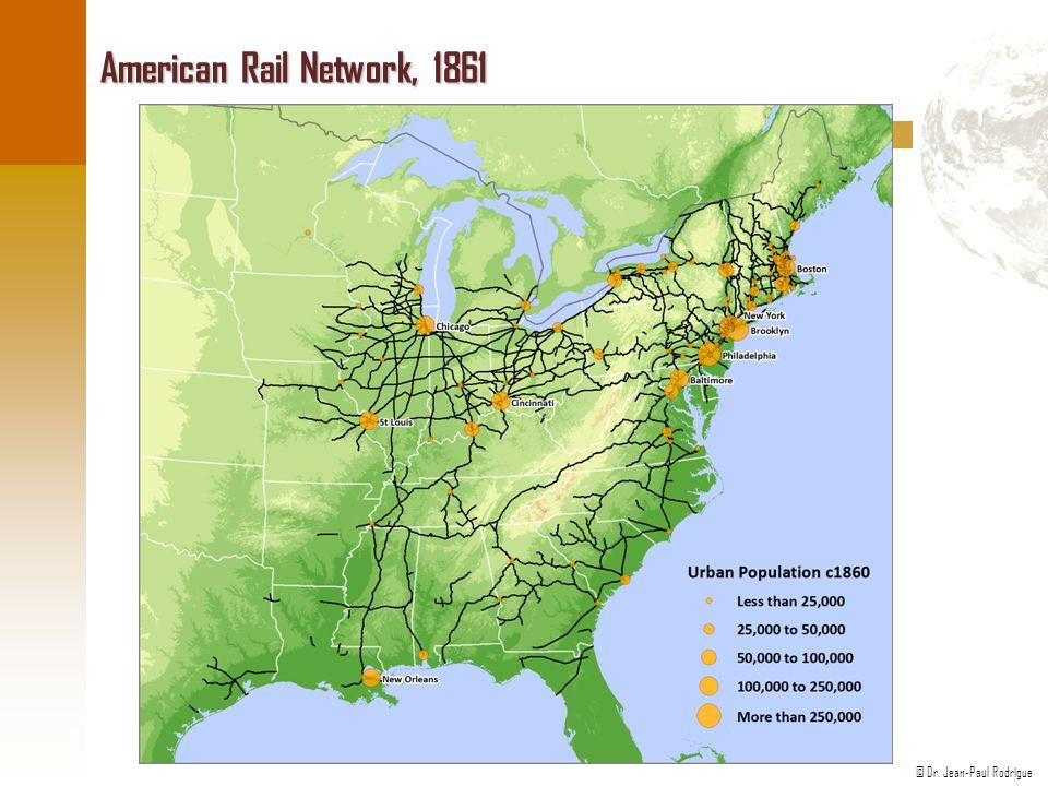© Dr. Jean-Paul Rodrigue American Rail Network, 1861