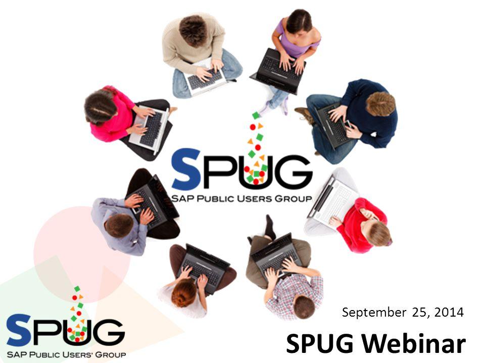 SPUG Webinar September 25, 2014