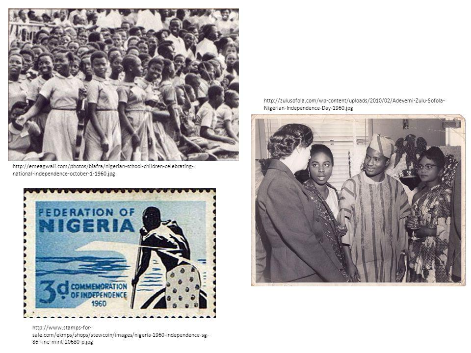 http://emeagwali.com/photos/biafra/nigerian-school-children-celebrating- national-independence-october-1-1960.jpg http://zulusofola.com/wp-content/uploads/2010/02/Adeyemi-Zulu-Sofola- Nigerian-Independence-Day-1960.jpg http://www.stamps-for- sale.com/ekmps/shops/stewcoin/images/nigeria-1960-independence-sg- 86-fine-mint-20680-p.jpg