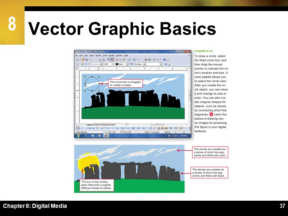 8 Vector Graphic Basics Chapter 8: Digital Media37