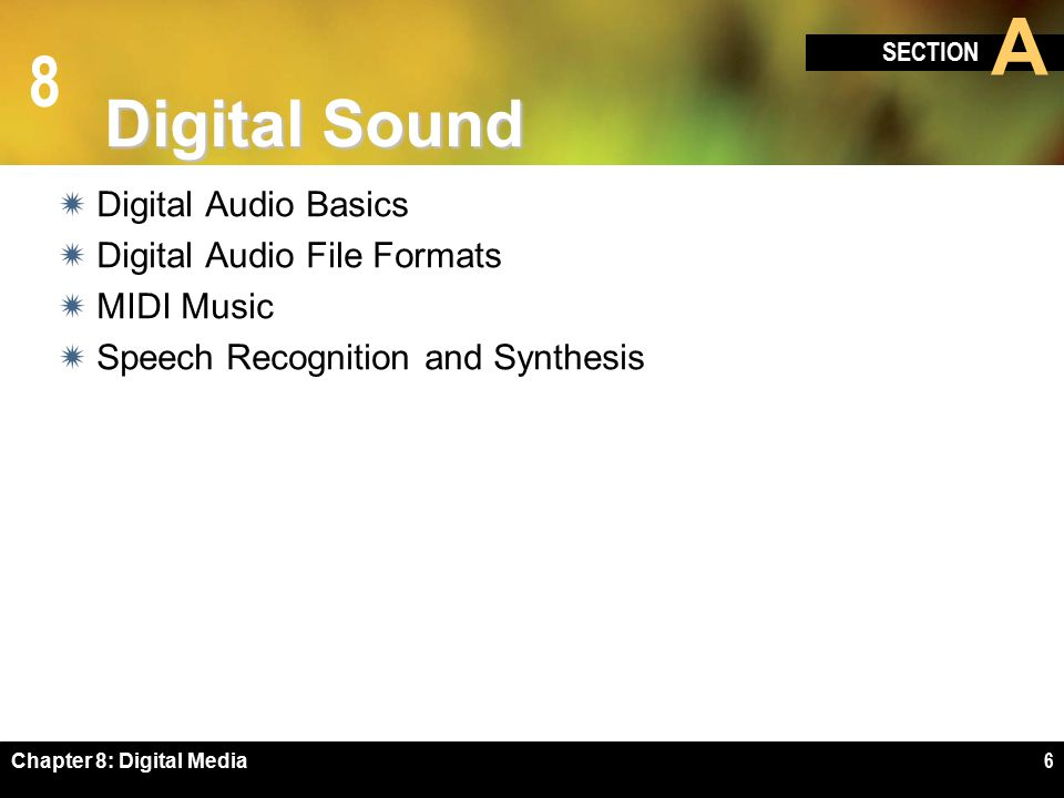 8 Speech Recognition and Synthesis Chapter 8: Digital Media17
