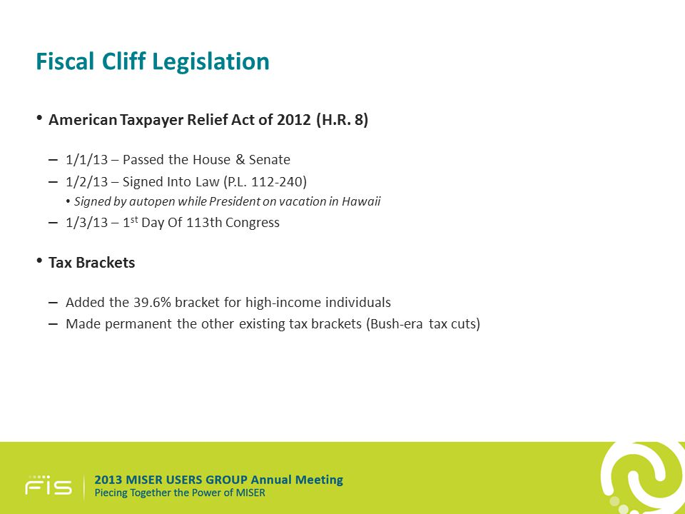 American Taxpayer Relief Act of 2012 (H.R.
