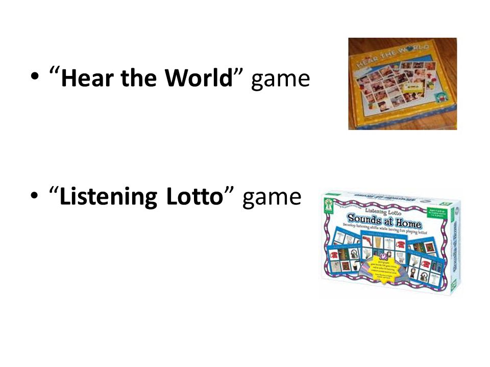 Hear the World game Listening Lotto game