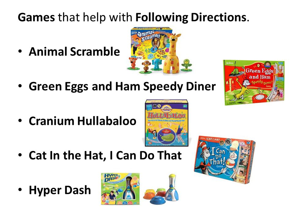 Games that help with Following Directions.