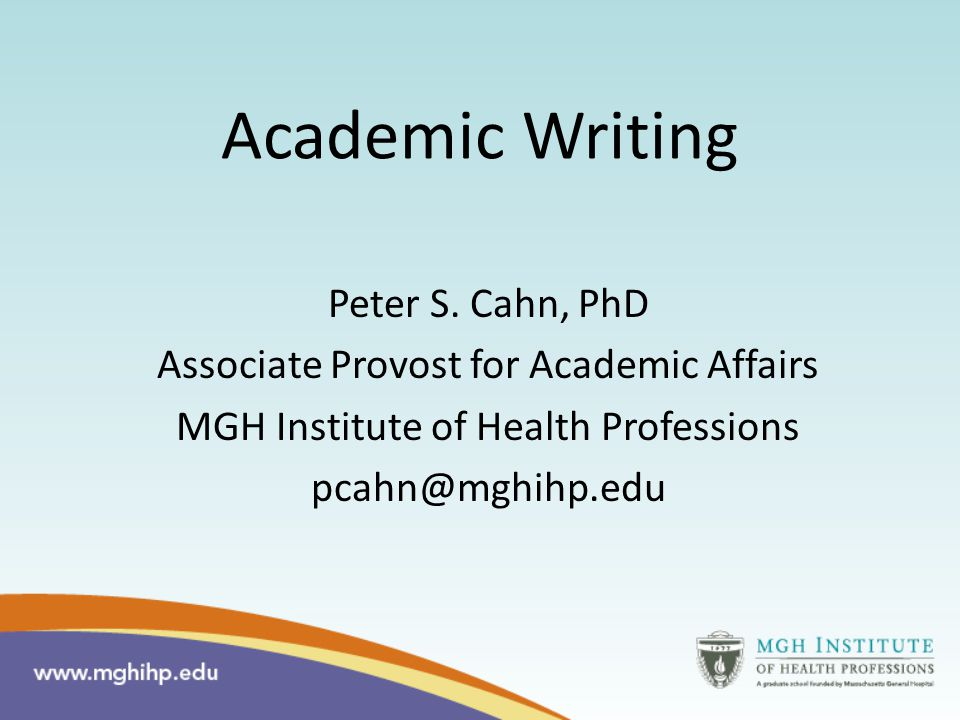 Academic Writing Peter S.