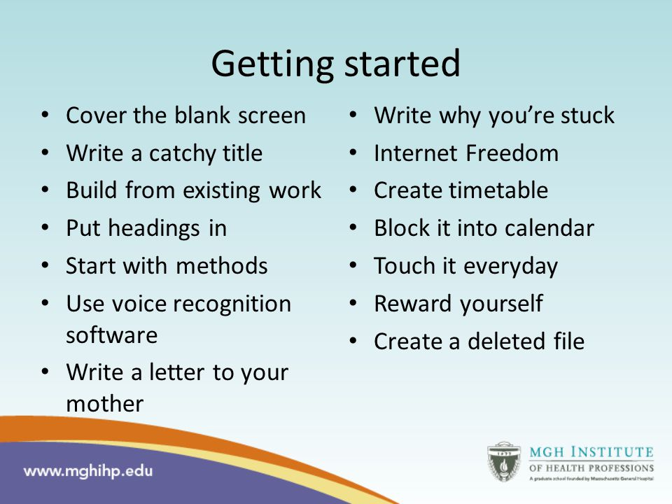 Learning Communities When do you find yourself procrastinating the most during a writing project.