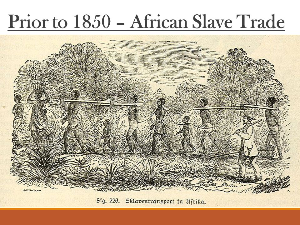 Prior to 1850 – African Slave Trade