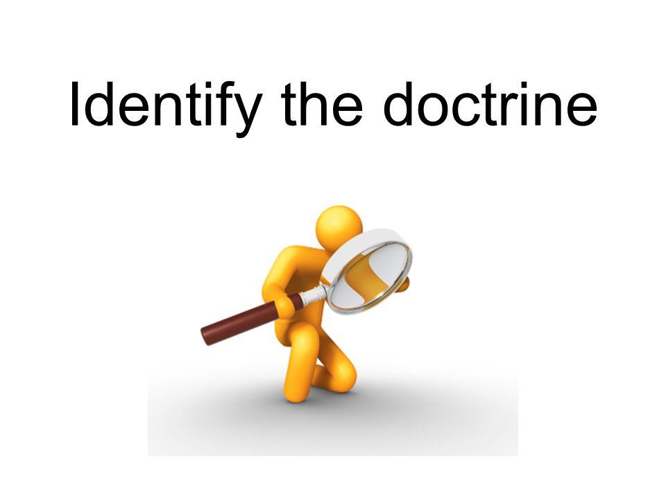 Identify the doctrine