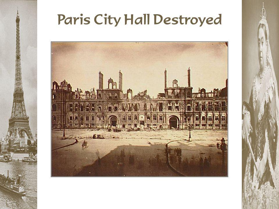 Paris City Hall Destroyed