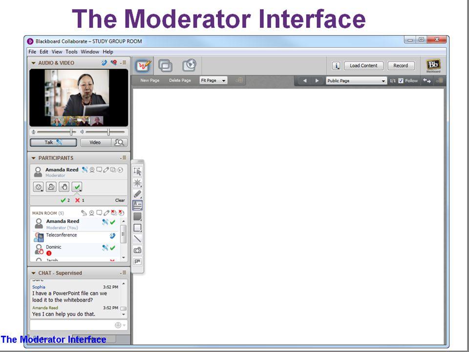 Moderator Interface