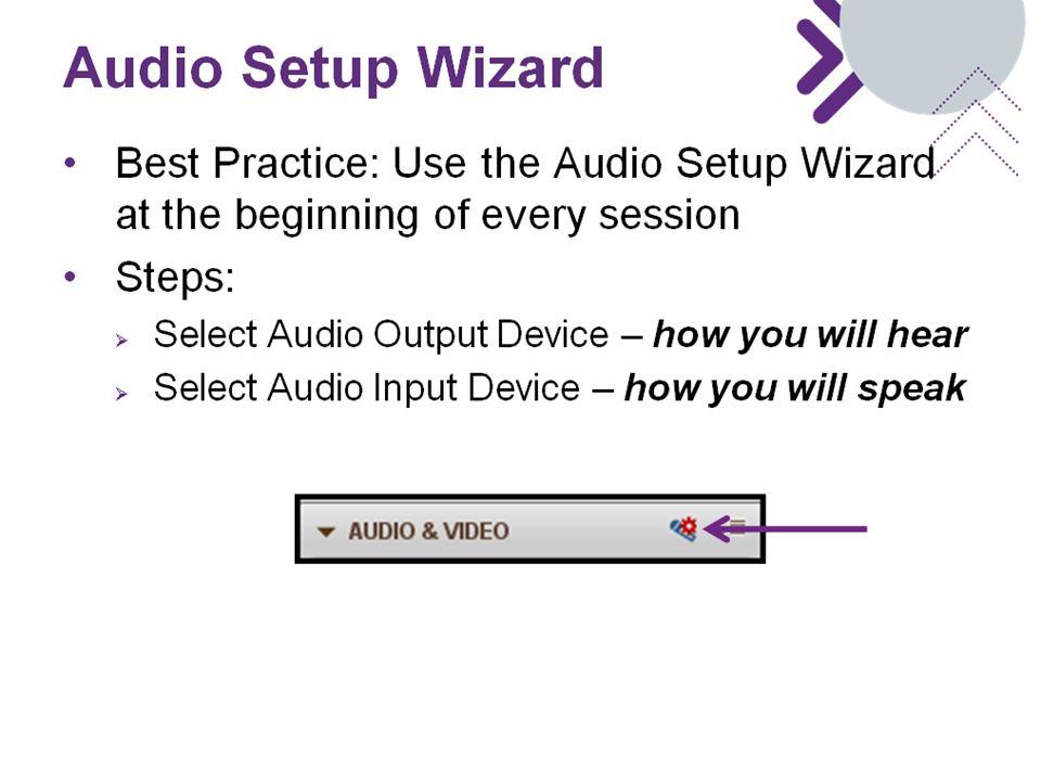 Audio Setup Wizard