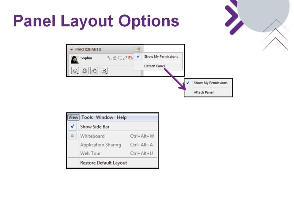 Panel Layout Options
