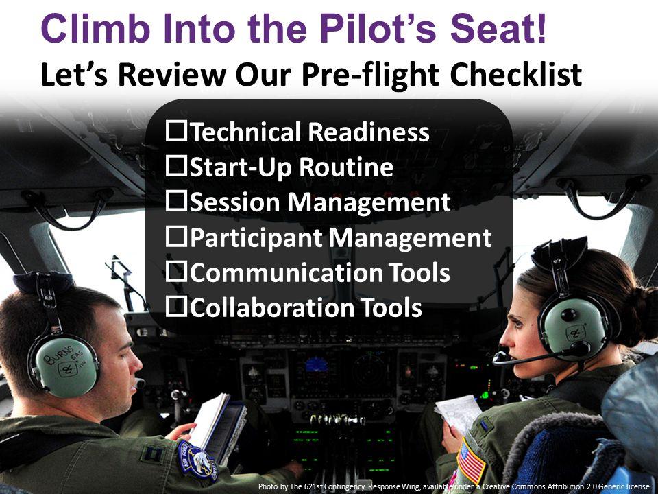 Climb Into the Pilot's Seat.
