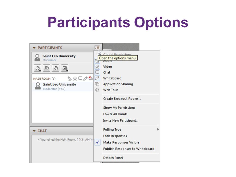 Participants Options