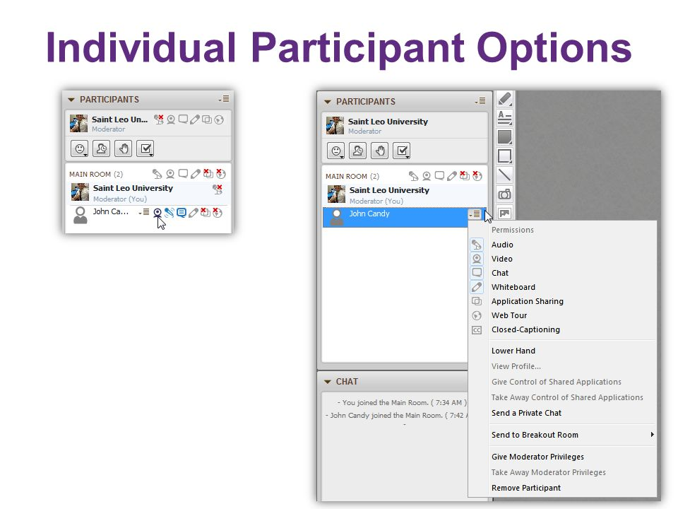 Individual Participant Options
