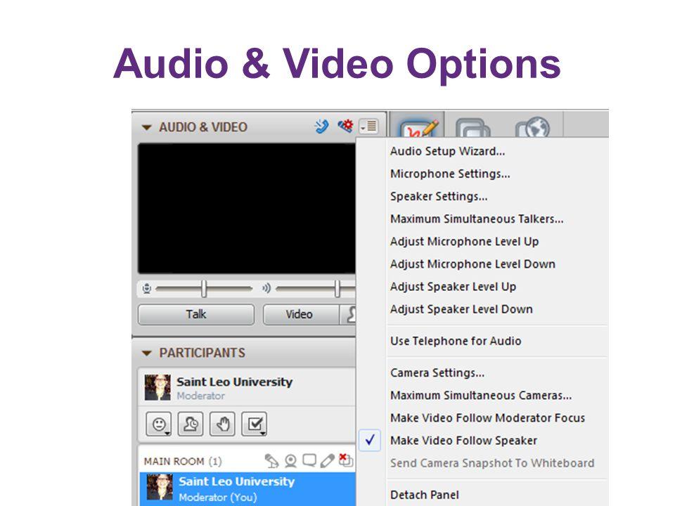 Audio & Video Options