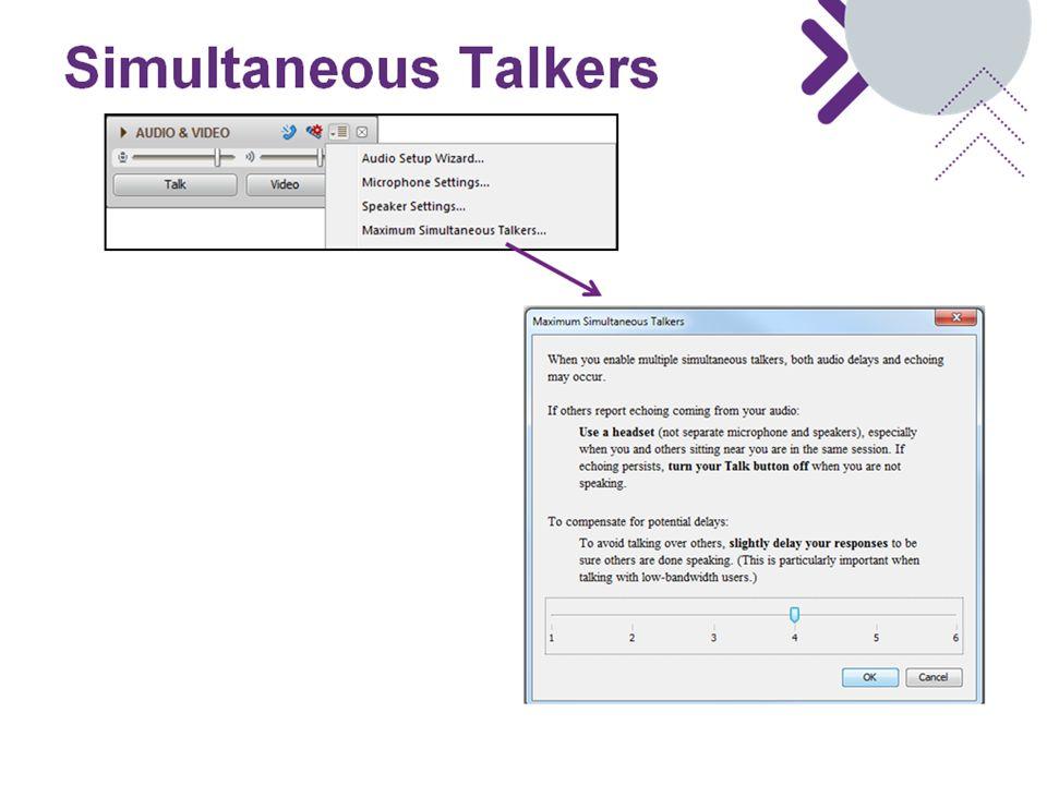 Simultaneous Talkers