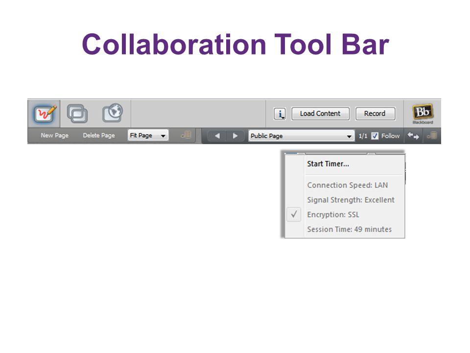 Collaboration Tool Bar