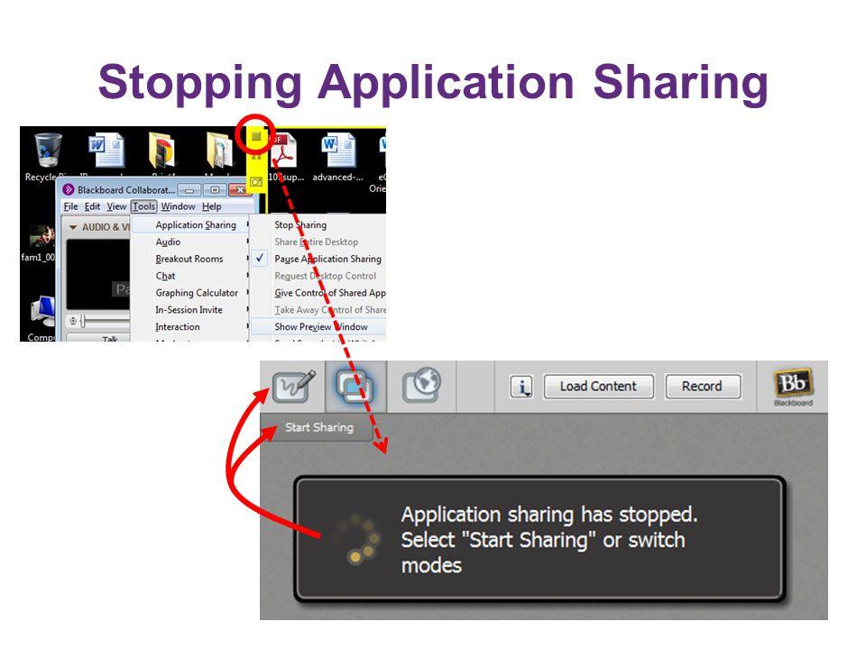 Stopping Application Sharing
