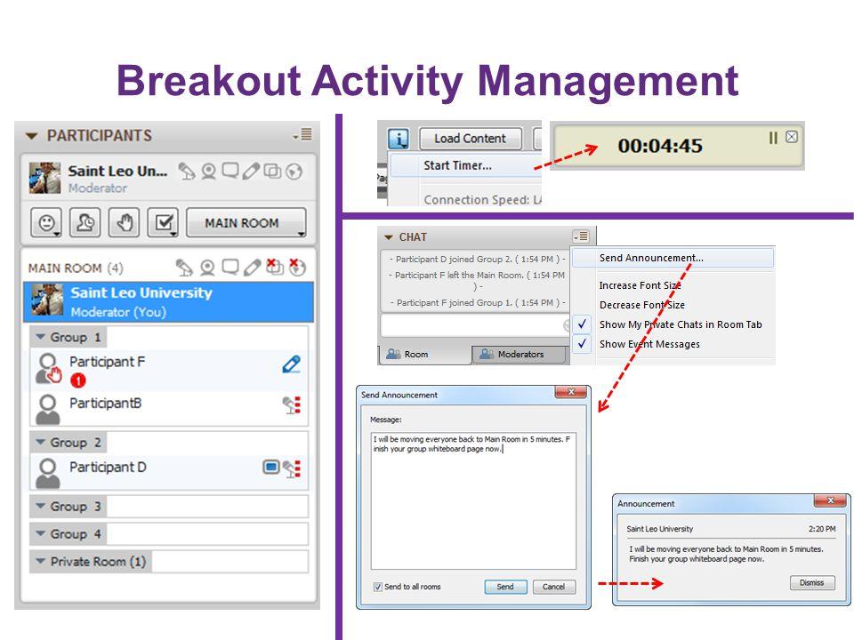 Breakout Activity Management