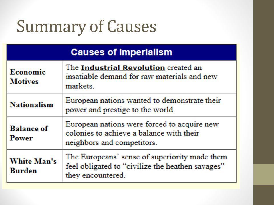 Summary of Causes