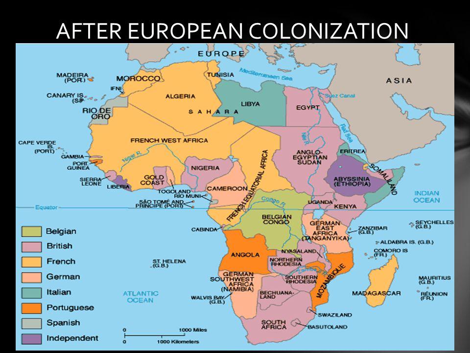 AFTER EUROPEAN COLONIZATION
