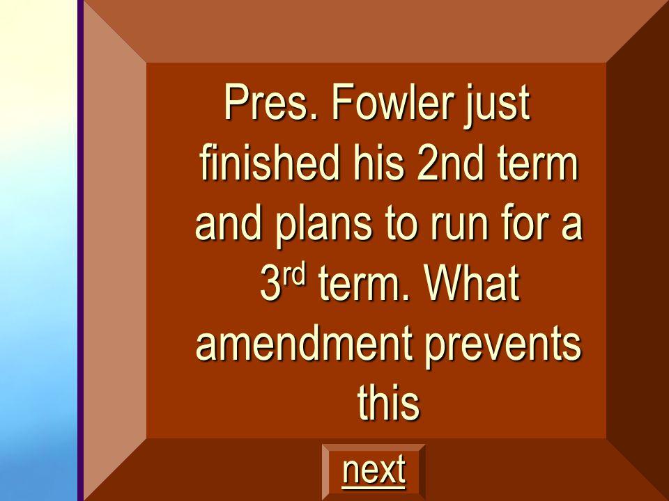 23 rd Amendment $600