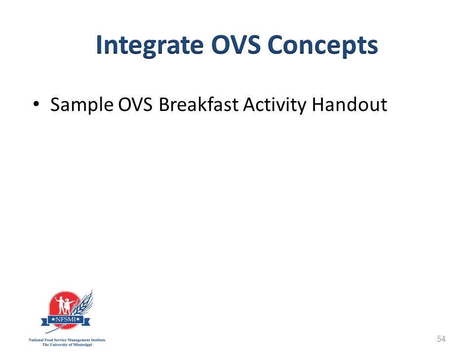 Sample OVS Breakfast Activity Handout 54