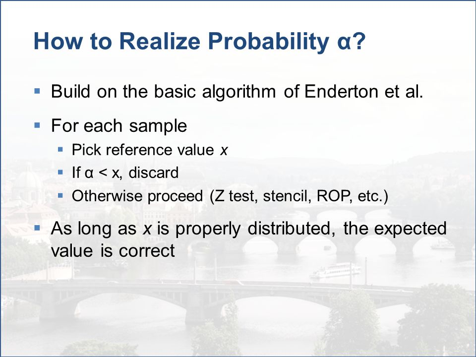 Choice of α Reference  In each sample, what do we compare α against.