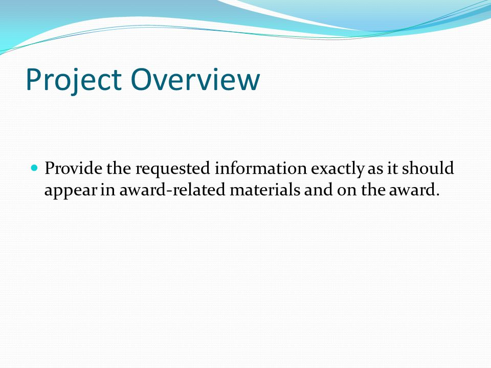 Contracted Scope-10 points Type of construction Size of project Contract value Length of project % of labor self performed