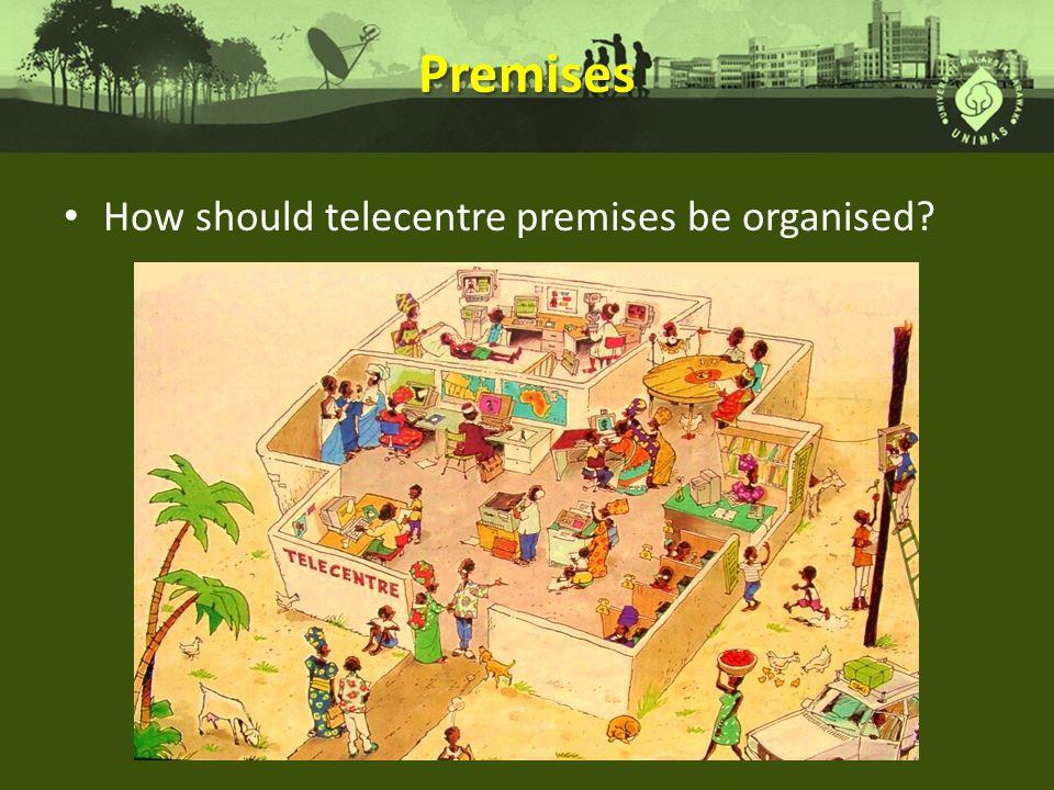 Premises How should telecentre premises be organised?