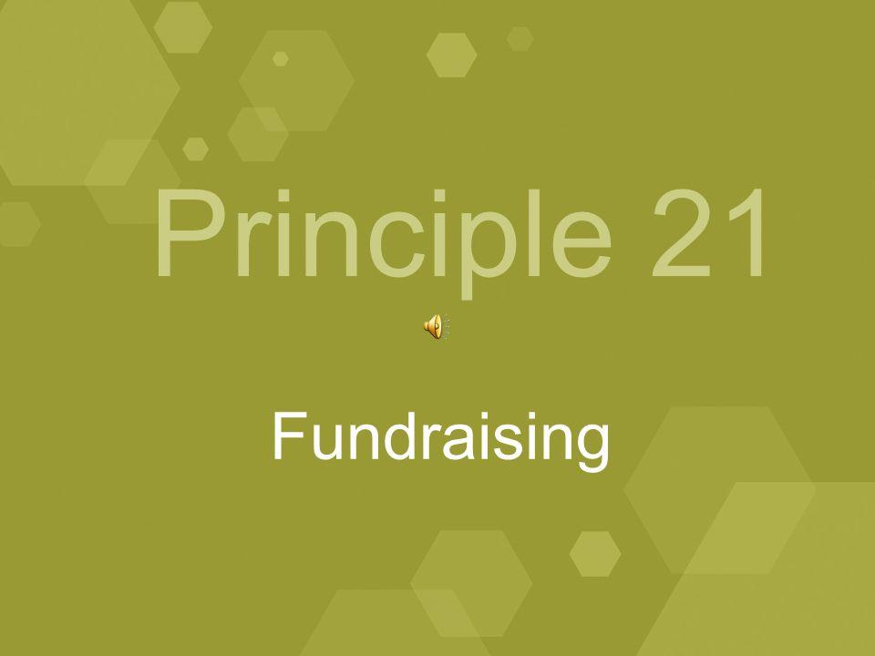 Principle 21 Fundraising