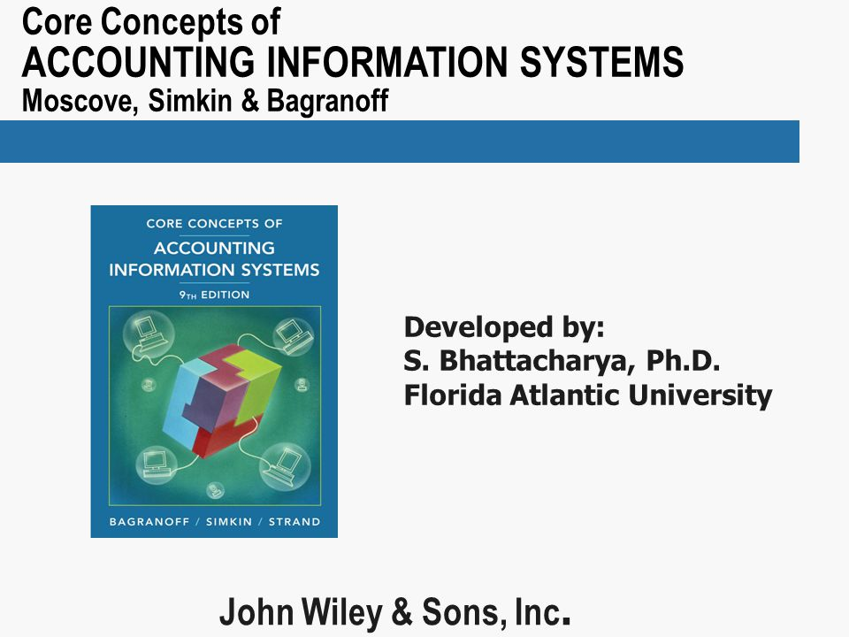 Core Concepts of ACCOUNTING INFORMATION SYSTEMS Moscove, Simkin & Bagranoff John Wiley & Sons, Inc.