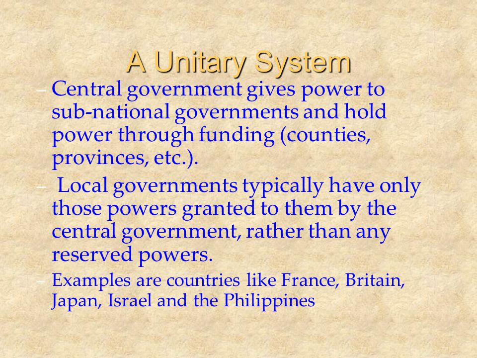 Federalism and the Scope of Government – Which level of government is best able to solve the problem.