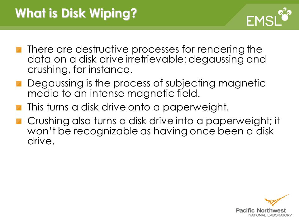 What is Disk Wiping.
