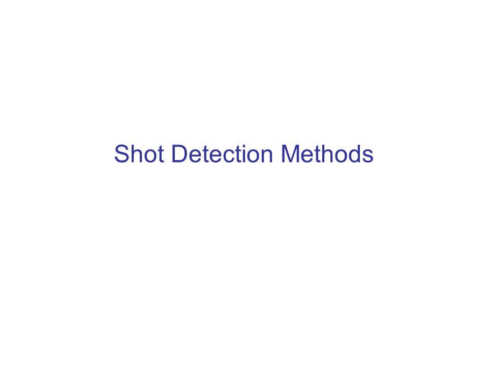 Shot Detection Methods