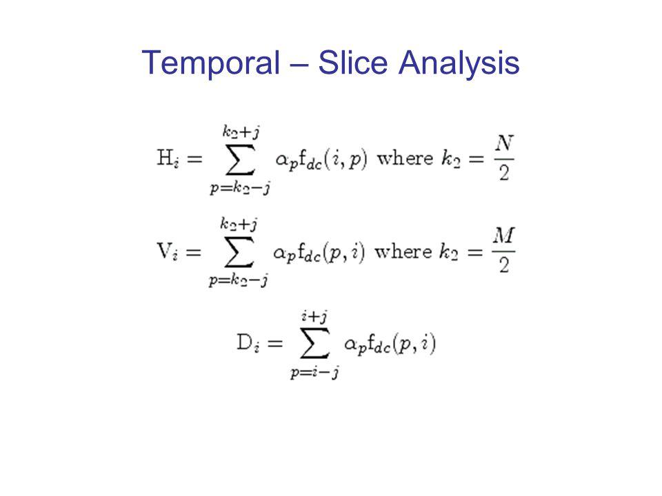 Temporal – Slice Analysis