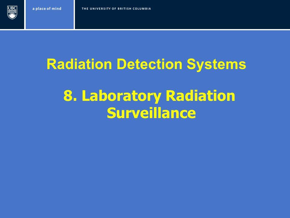 Radiation Detection Systems 8. Laboratory Radiation Surveillance