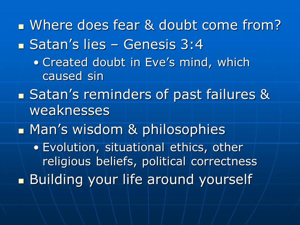 Fear & doubt: Fear & doubt: Form of wickedness – Matt.