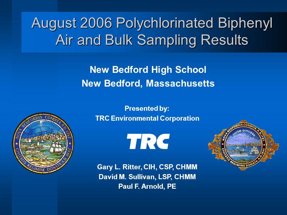 Third Floor Air Sampling Locations New Bedford High School Approximate TRC Sample Location
