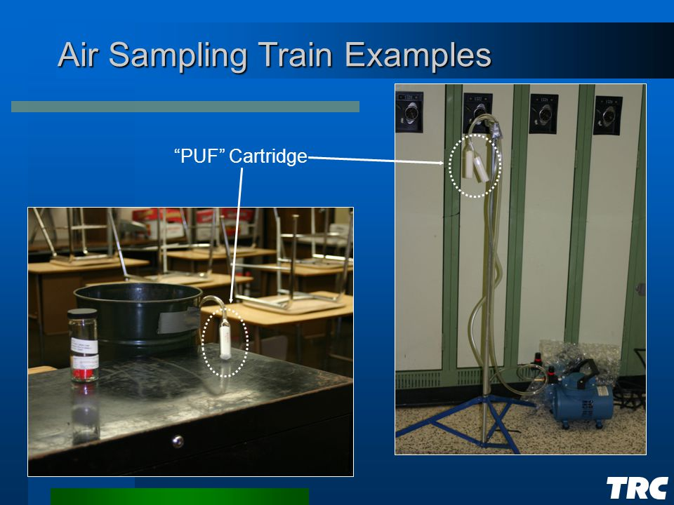 Air Sampling Train Examples PUF Cartridge