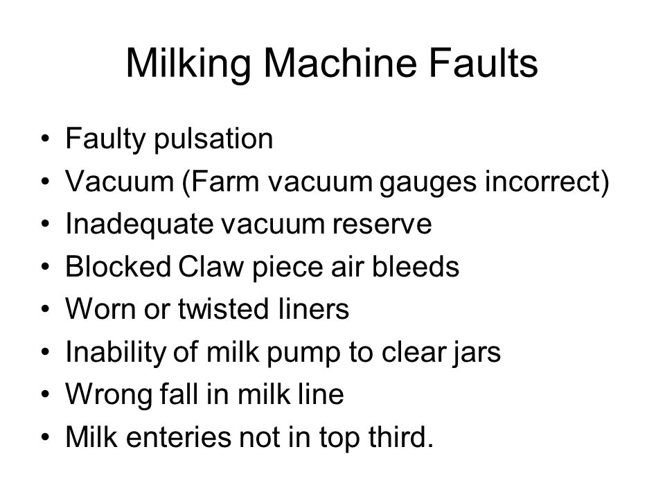 Milking Practice Issues Minimise teat end damage.Taking clusters off under vacuum.